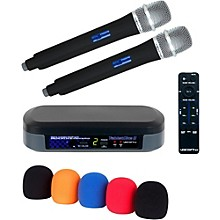 Vocopro Digital Karaoke Mixer with Wireless Mics and Bluetooth Receiver And Mic Wind Screen(5) Level 1