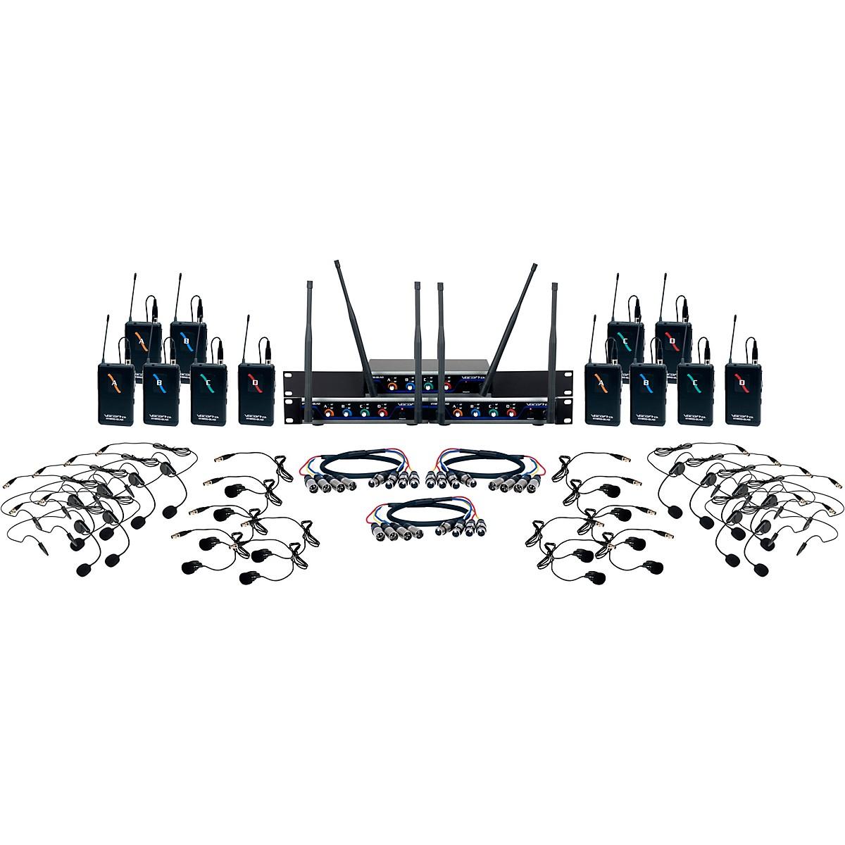 VocoPro Digital-Play-12 12-Channel UHF Wireless Headset/Lapel Microphone System