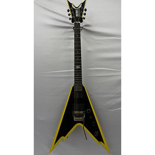 used dean dime razorback v solid body electric guitar black and yellow guitar center. Black Bedroom Furniture Sets. Home Design Ideas