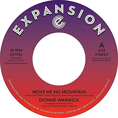 Alliance Dionne Warwick - Move Me No Mountain / (I'm) Just Being Myself