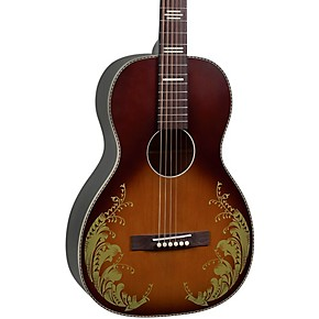 019a0d34a2e Recording King Dirty '30s Series 7 Single 0 Limited Edition Lily of the  Valley Acoustic Guitar Tobacco Sunburst | Guitar Center
