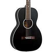Dirty Thirties Solid Top Single O Parlor Acoustic Guitar Black