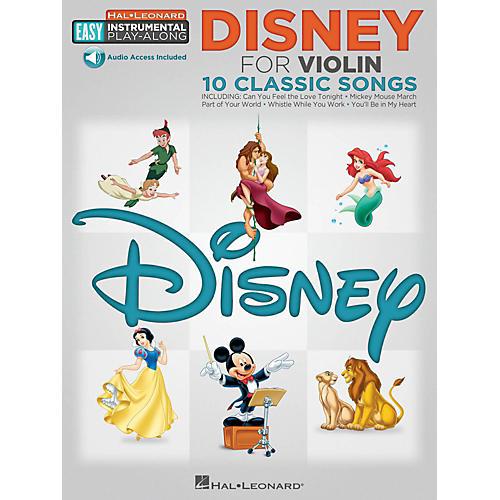 Hal Leonard Disney - Violin - Easy Instrumental Play-Along Book with Online Audio Tracks