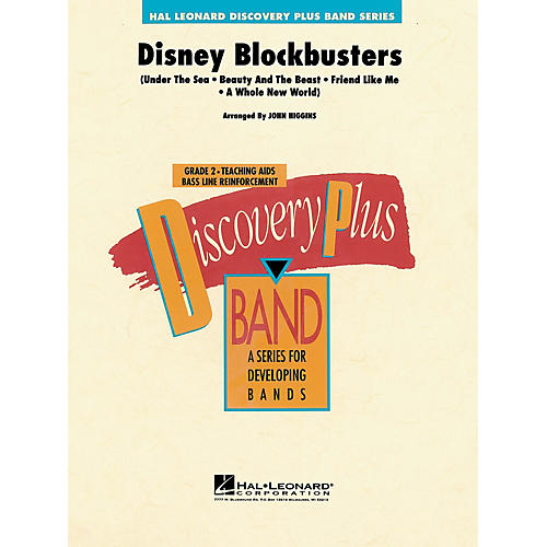 Hal Leonard Disney Blockbusters - Discovery Plus Concert Band Series Level 2 arranged by John Higgins