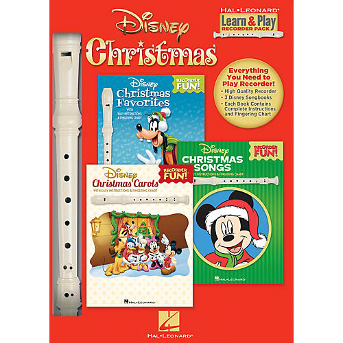 Hal Leonard Disney Christmas (Learn & Play Recorder Pack) Recorder Series General Merchandise
