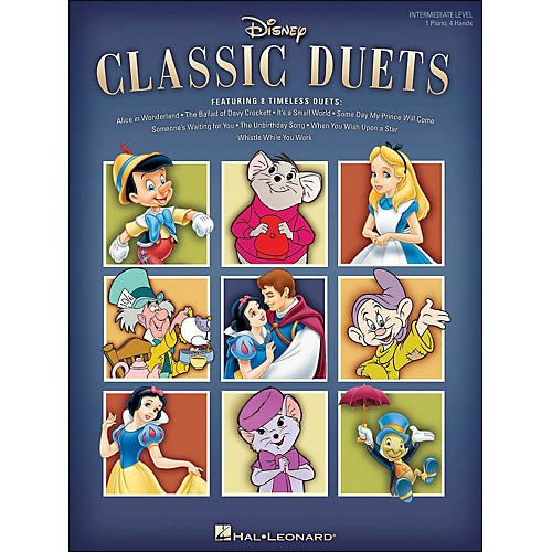 Hal Leonard Disney Classic Duets Intermediate Level 1 Piano, 4 Hands