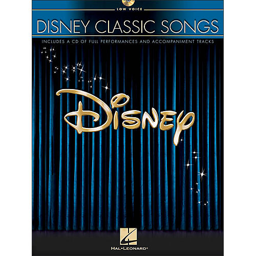 Hal Leonard Disney Classic Songs for Low Voice Book/CD