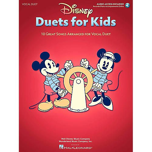 Hal Leonard Disney Duets For Kids - Two Voices And Piano Accompaniment - Book/Online Audio