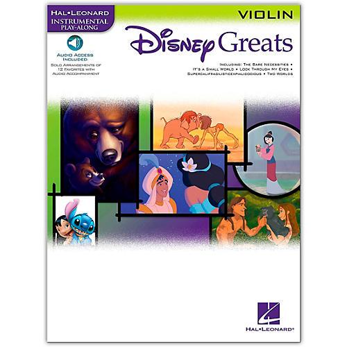 Hal Leonard Disney Greats for Violin Book/Online Audio Instrumental Play-Along