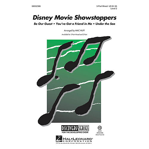 Hal Leonard Disney Movie Showstoppers (Discovery Level 2) 3-Part Mixed arranged by Mac Huff