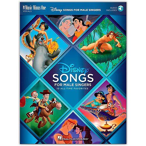 Music Minus One Disney Songs for Male Singers 10 All-Time Favorites with Fully Orchestrated Backing Tracks Book/Audio Online