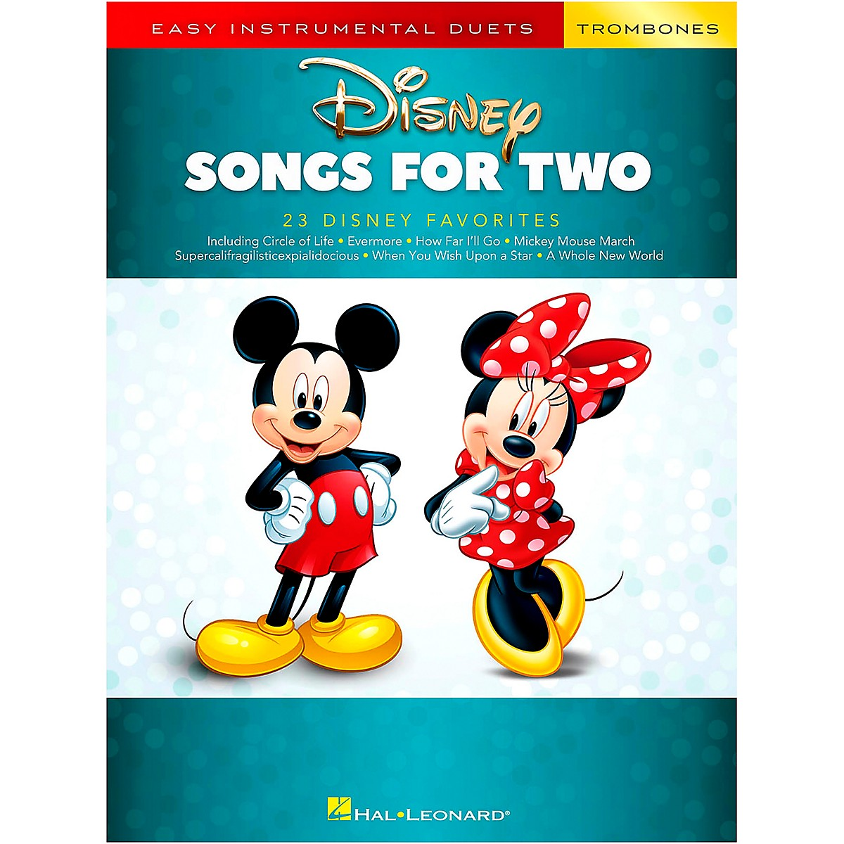 Hal Leonard Disney Songs for Two Trombones - Easy Instrumental Duets Series Songbook