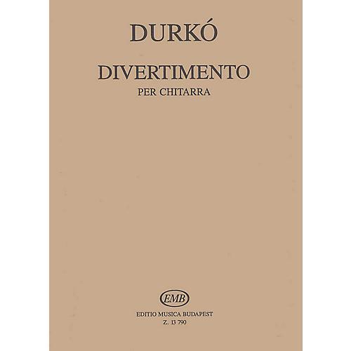 Editio Musica Budapest Divertimento (Guitar Solo) EMB Series Composed by Zsolt Durkó