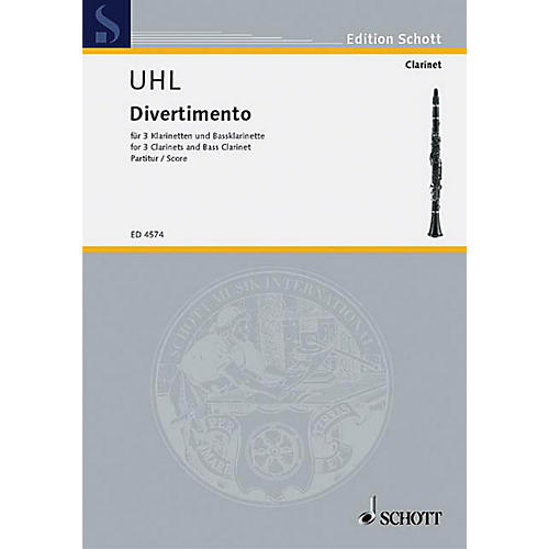 Schott Divertimento (Score) Schott Series Composed by Alfred Uhl