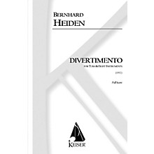 Lauren Keiser Music Publishing Divertimento for Tuba and Eight Instruments (Full Score) LKM Music Series Composed by Bernhard Heiden