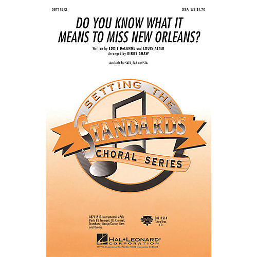 Hal Leonard Do You Know What It Means to Miss New Orleans SSA arranged by Kirby Shaw