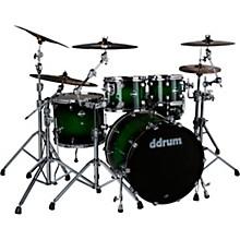 Dominion Birch 5-piece Shell Pack with Ash Veneer Green Burst