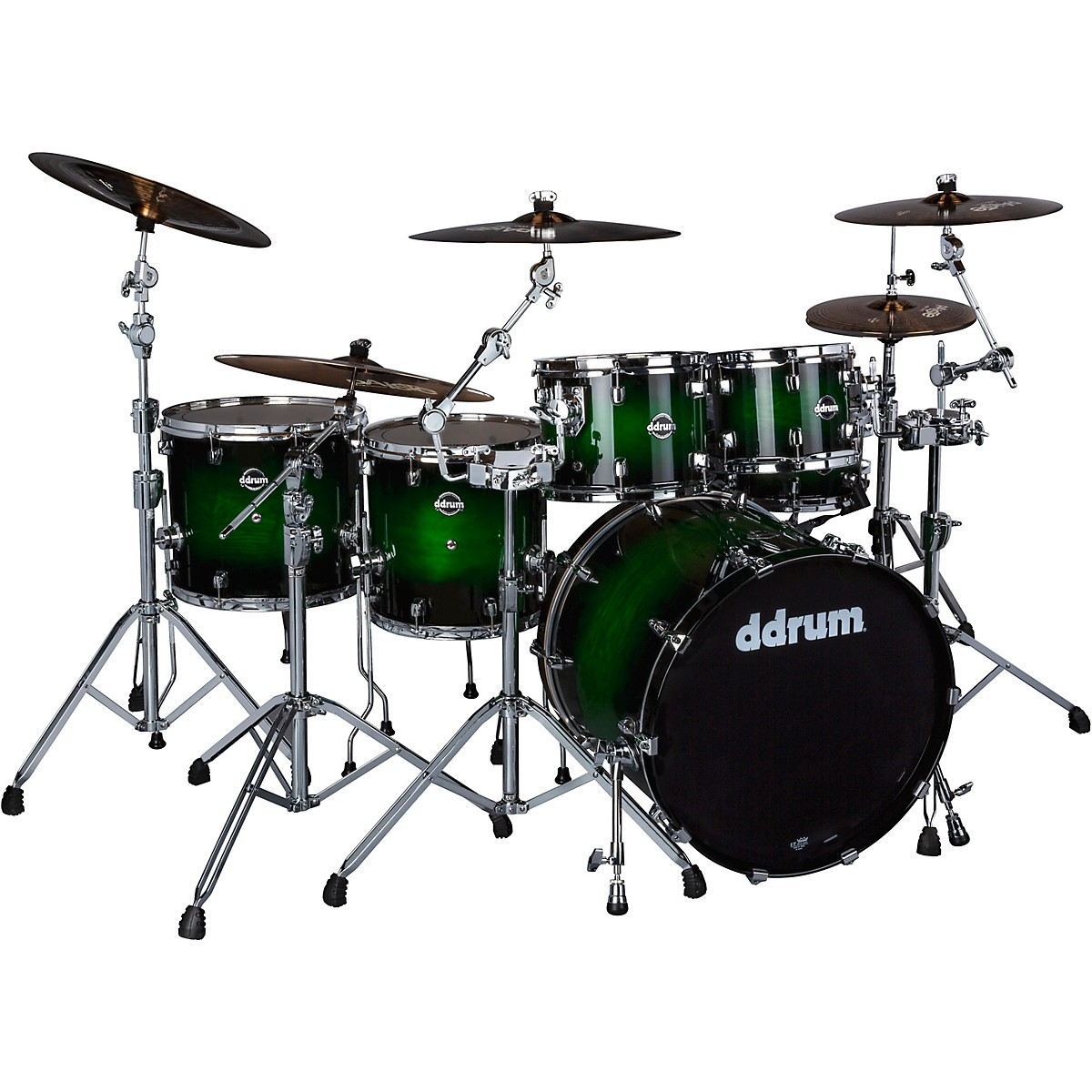 ddrum Dominion Birch 6-piece Shell Pack with Ash Veneer