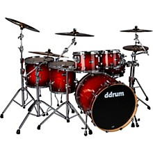 Dominion Birch 6-piece Shell Pack with Ash Veneer Red Burst