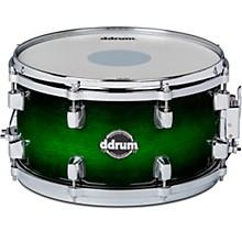 Dominion Birch Snare Drum with Ash Veneer 13 x 7 in. Green Burst