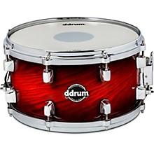 Dominion Birch Snare Drum with Ash Veneer 13 x 7 in. Red Burst