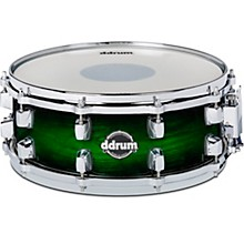 Dominion Birch Snare Drum with Ash Veneer 14 x 5.5 in. Green Burst