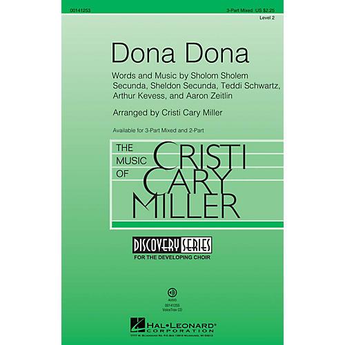 Hal Leonard Dona Dona (Discovery Level 2) 3-Part Mixed arranged by Cristi Cary Miller
