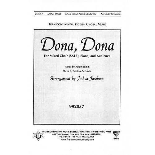 Transcontinental Music Dona Dona SATB arranged by Joshua Jacobson