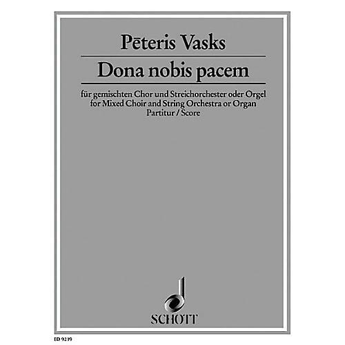 Schott Dona Nobis Pacem (Full Score) Score Composed by Peteris Vasks