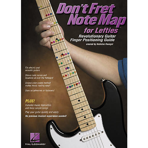 Hal Leonard Don't Fret Note Map for Lefties Book