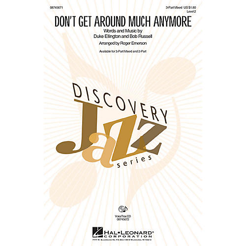 Hal Leonard Don't Get Around Much Anymore 3-Part Mixed arranged by Roger Emerson