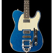 Fender Custom Shop Double TV Jones Relic Telecaster with Bigsby Electric Guitar Level 2 Blue Sparkle 190839344151