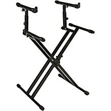 Quik-Lok Double-Tier Double-Braced Keyboard Stand Level 1