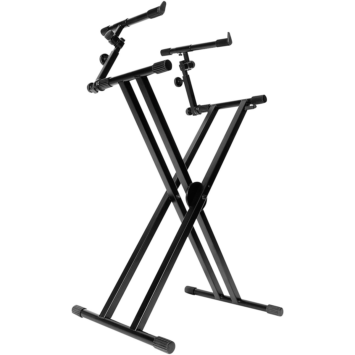 On Stage Double X Ergo Lok Keyboard Stand With 2nd Tier
