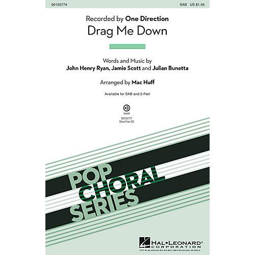 Hal Leonard Drag Me Down SAB by One Direction arranged by Mac Huff