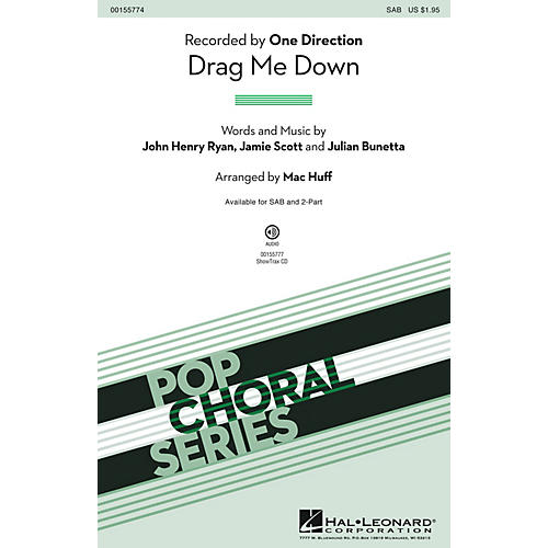 Hal Leonard Drag Me Down ShowTrax CD by One Direction Arranged by Mac Huff