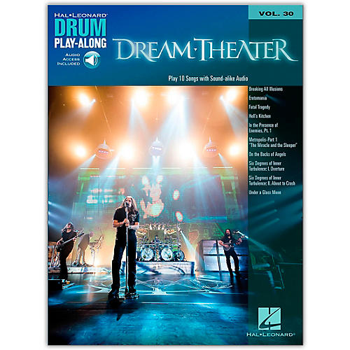 Hal Leonard Dream Theater - Drum Play-Along Vol. 30 Book/Online Audio