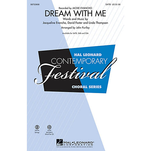 Hal Leonard Dream with Me SSA by Jackie Evancho Arranged by John Purifoy