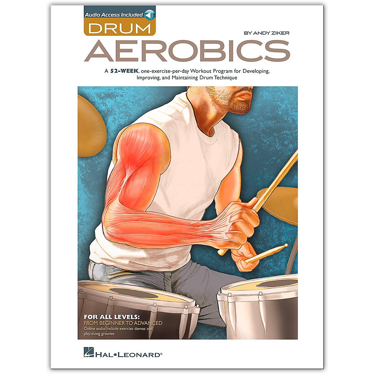 Hal Leonard Drum Aerobics - Book/Online Audio