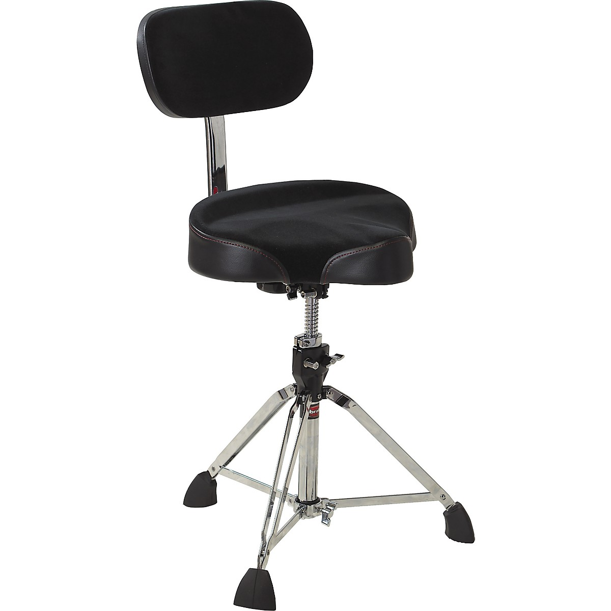 Gibraltar Drum Throne with Oversized Motorcycle Seat and Backrest