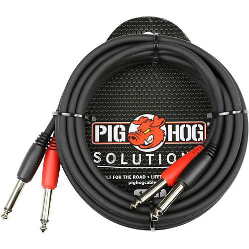 Pig Hog Dual 1 4 Quot 1 4 Quot Ts Cable 10 Ft Guitar Center