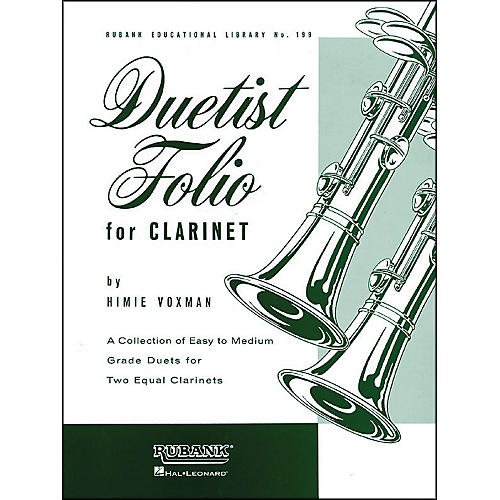 Hal Leonard Duetist Folio for Clarinet Easy To Medium