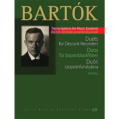 Editio Musica Budapest Duets for Descant Recorders (from the Children's and Female Choruses) EMB Series Softcover by Béla Bartók