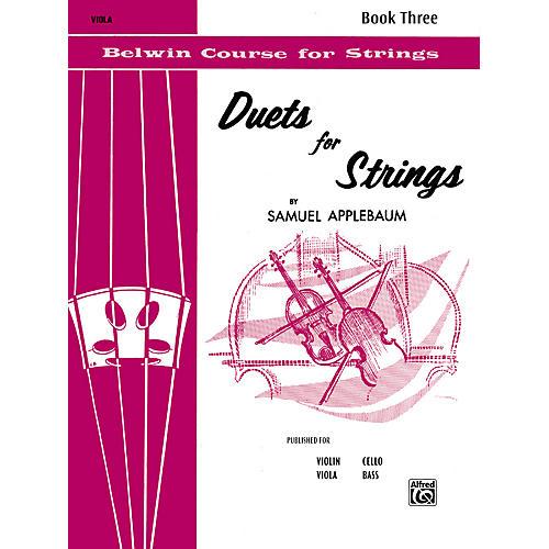 Alfred Duets for Strings Book III Viola