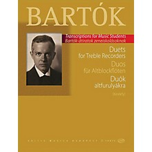 Editio Musica Budapest Duets for Treble Recorders (from the Children's and Female Choruses) EMB Series Softcover by Béla Bartók