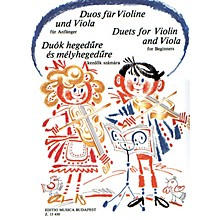 Editio Musica Budapest Duets for Violin and Viola for Beginners - Volume 1 EMB Series by Various