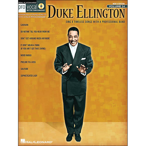 Hal Leonard Duke Ellington - Pro Vocal Songbook for Male Singers Volume 24 Book/CD