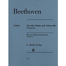 G. Henle Verlag Duo for Violin and Violoncello, Fragment Henle Music Folios Series Softcover by Ludwig van Beethoven