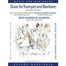 Editio Musica Budapest Duos for Trumpet and Baritone (or Trombone) (for Beginners) EMB Series  by Various
