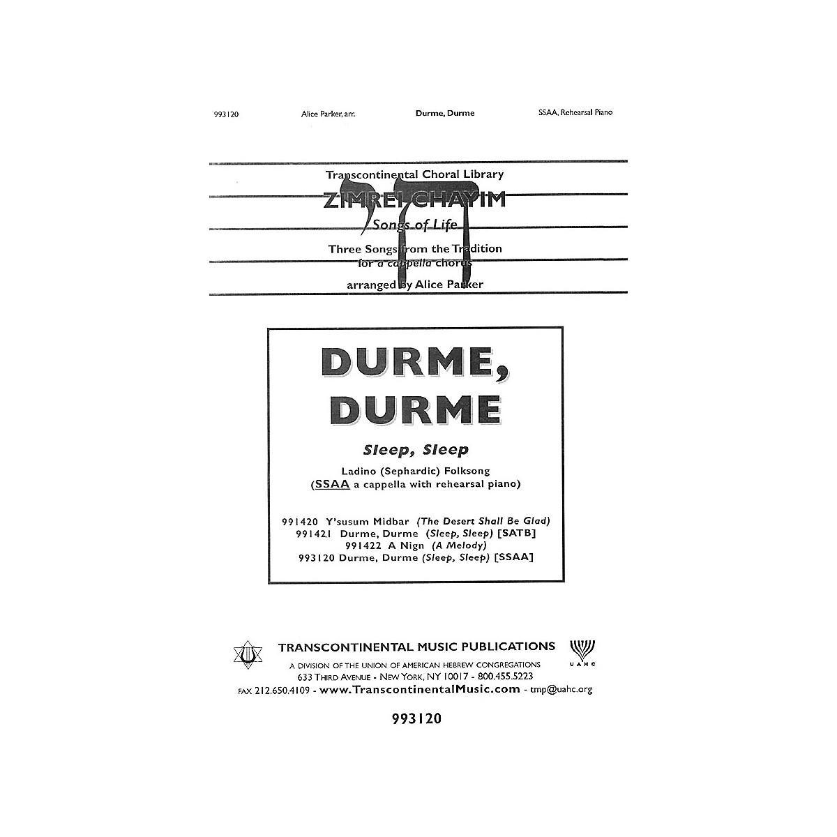 Transcontinental Music Durme, Durme (Sleep, Sleep) SSAA arranged by Alice Parker